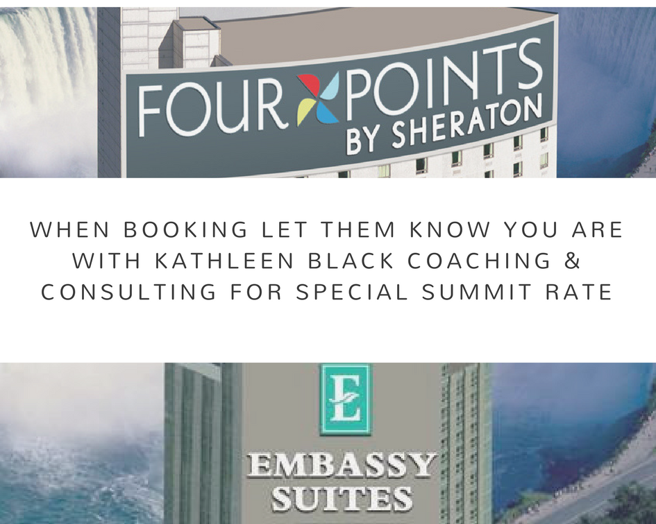 when booking let them know you are with Kathleen black coaching & consulting for special summit rate